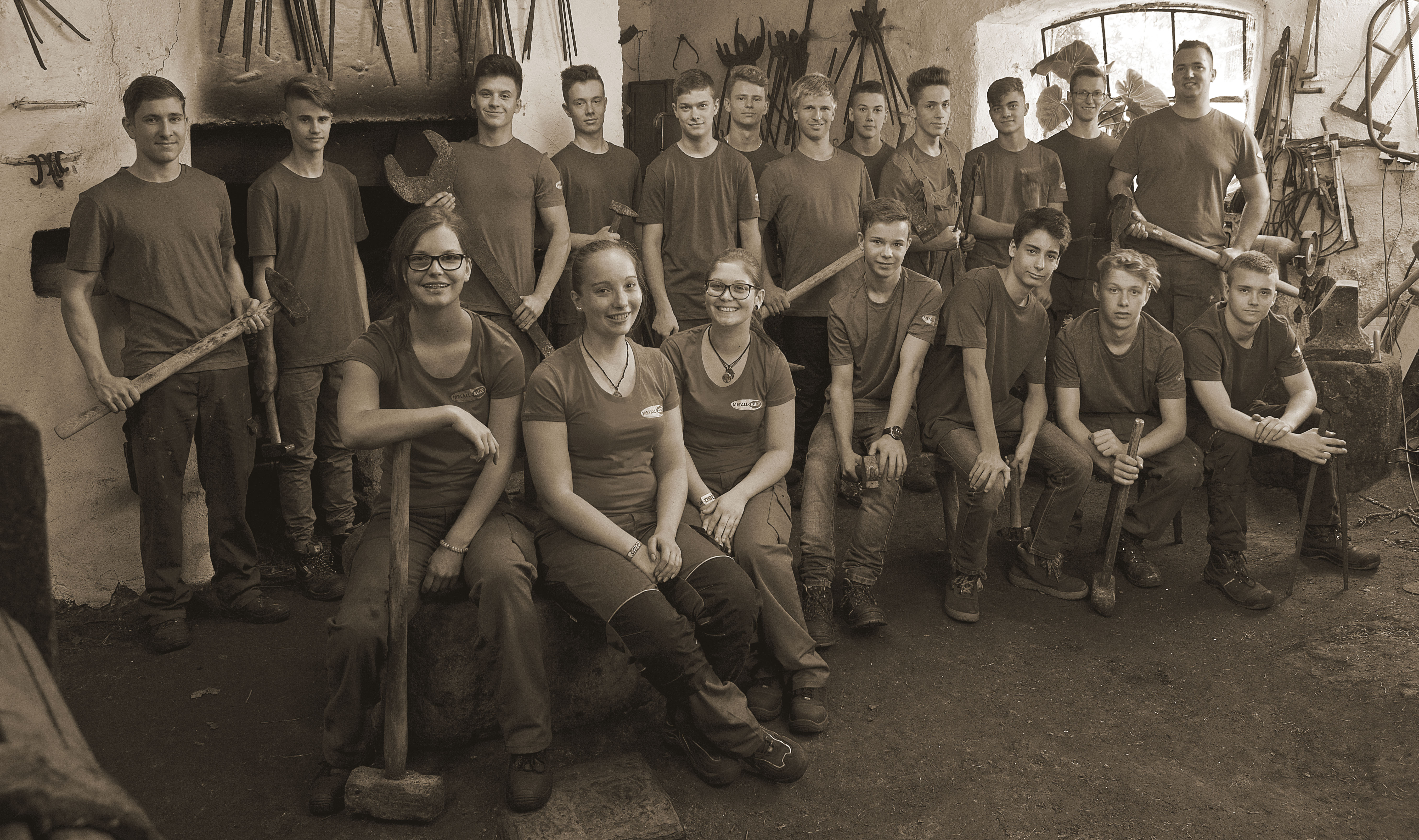Lehrlingserfolge, Lehrlinge Metall-Auer, Stahlbau, Metallbau, Monteure, Ausbildung